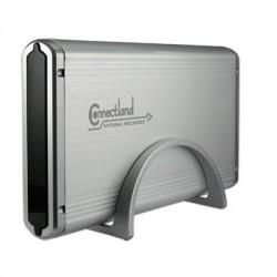 Boîtier externe Connectland 3.5'' SATA IDE USB v2.0 Argent