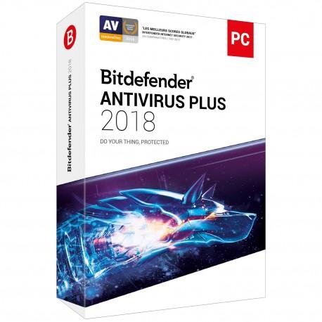 Bitdefender Antivirus Plus 2018 - 1 An 1 Poste