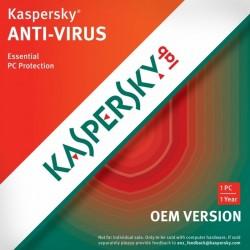 Kaspersky Anti-Virus OEM - Licence 1 an 1 poste