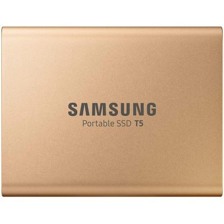 Samsung SSD Portable T5 500 Go doré